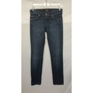 7 FOR ALL MANKIND JEANS SZ 24 ROXANNE SKINNY